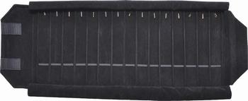 Rouleau 15 cases (280x46 mm)+15 mousquetons+élastiques.