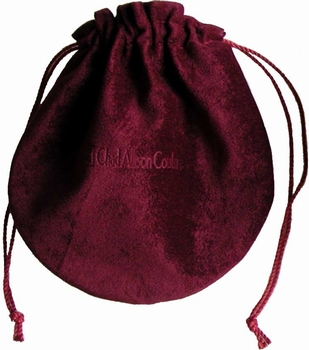 Flocked cotton bag (145x150 mm), for jewelry