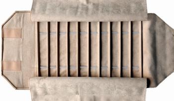 Rouleau pour bracelets, 10 cases + élastiques (220x30 mm)