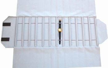 Roll for watches, 12 slots (240x46 mm) + elastic bands