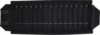 Pour Bracelets, 15 cases (220x37 mm) + fermoirs + élastique