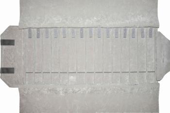 Roll for bracelets, 15 slots (240x37 mm) + 12 bands+elastic