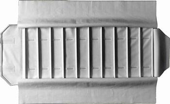 Rolle für Uhren, 10  Fächer (280x54 mm) + Gummibänder