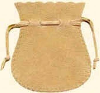 Sachet en coton flocké des 2 côtés (65x75 mm)
