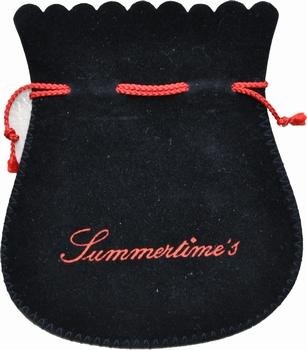 Sachet en coton flocké des 2 côtés (115x130 mm)
