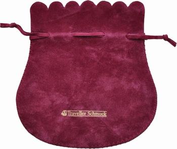 Sachet en coton flocké des 2 côtés (140x150 mm)