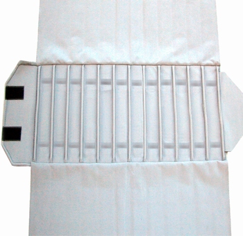 Roll for Chain-Roll, 12 cases (370x46 mm) + elastic bands