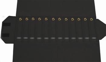 Pour Bracelets, 12 cases (220x46 mm) + fermoirs + élastique